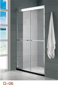 double sliding shower screen with wide Aluminum alloy profile