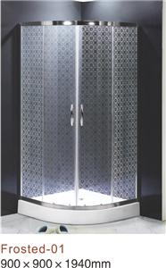Frosted tempered glass shower enclosure