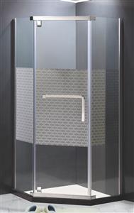 open door shower cabin with anti-explore film