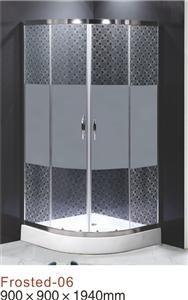 simple arc/square shapeed 4mm 5mm 6mm printing glass shower enclosure
