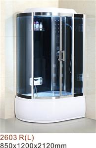 steam shower room with music