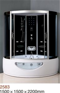 luxury steam shower room with  multi-function